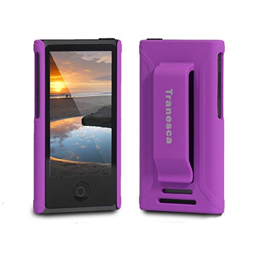 (Tranesca Compatible with iPod Nano Protective case for Apple iPod Nano 7th & 8th Generation (Mystic Purple))