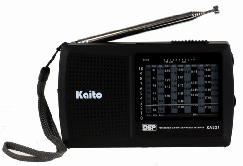 Kaito KA321 Pocket-size 10-Band AM/FM Shortwave Radio with DSP (Digital Signal Processing), Black