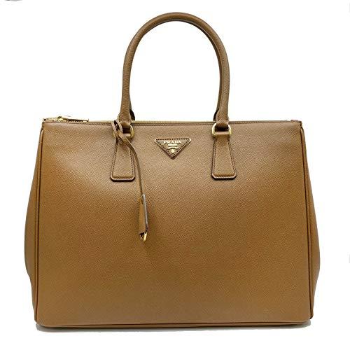 (PRADA Saffiano Lux Galleria Brown Leather Ladies Tote 1BA786NZV)
