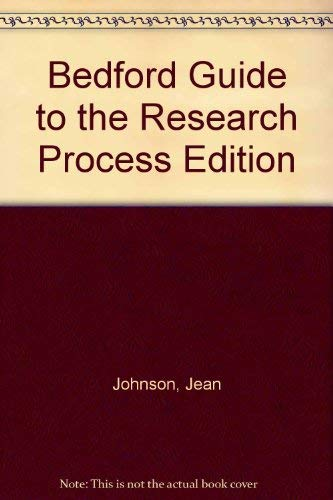 Bedford Guide to the Research Process Edition