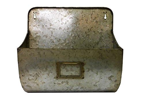 Galvanized Wall Pocket Organizer Metal Wall Pocket