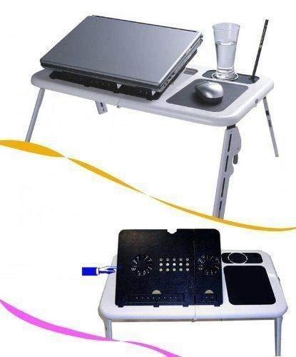 BestOnlineDeals01 - Mesa de Ordenador portátil con Ventilador USB Integrado para Evitar el sobrecalentamiento: Amazon.es: Hogar