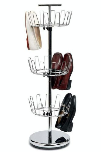 Chrome Revolving Shoe Tree, 3-TIER, - Return Policy Macy's Shoe