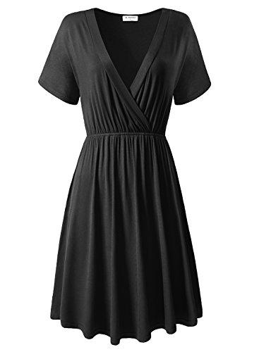 A Line Dresses,Bulotus for Women Black Formal Party Plus Size Sexy Dresses(XXL, Black) (Sexy Plus Dress)