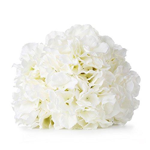 Duosuny Artificial Silk Fake 5 Heads Flower Bunch Bouquet Home Hotel Wedding Party Garden Floral Decor Hydrangea (Pack of 2 (Silk Floral Centerpieces)