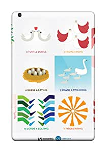 New Style 9131728K12692111 Anti-scratch And Shatterproof 12 Days Of Christmas Phone Case For Ipad Mini 3/ High Quality Tpu Case