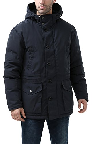 Coat Waterproof BGSD Navy Men's Tommy Hooded Parka Down WwwnPYORH