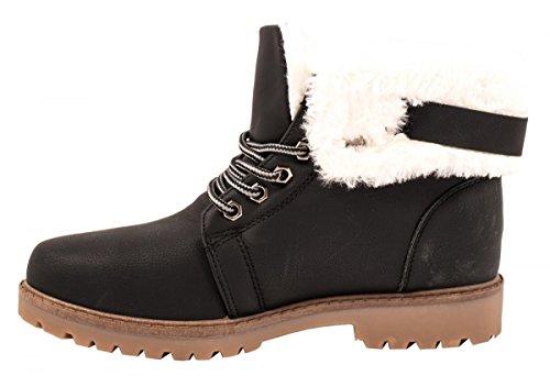 Elara - botas estilo motero Mujer negro