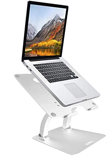 AVLT-Power Dual Arm Aluminum Adjustable Laptop Riser Stand - Executive Office Laptop Stand - for MacBook Pro Air iPad and Other 10
