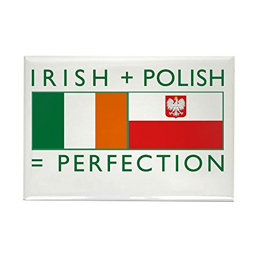 Irish Polish (CafePress - Irish Polish flags Rectangle Magnet - Rectangle Magnet, 2