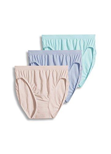Jockey Women's Underwear Comfies Cotton French Cut - 3 Pack, Soft Periwinkle, 9