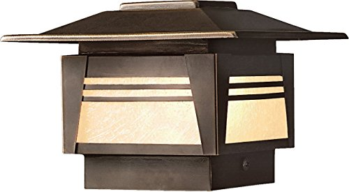 Zen Garden Fence - KICHLER 15071OZ Zen Garden Deck Post 1-Light 12V, Olde Bronze