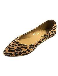 b0d96dcc4e6c91 Shoes 18 Womens Pointy Toe Ballet Flats 8800 Leopard Micro 7 8