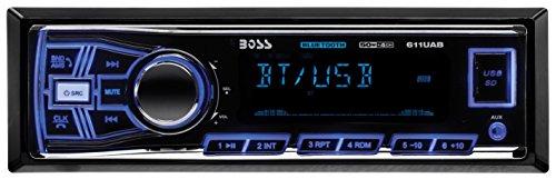 BOSS AUDIO 611UAB Single-DIN MECH-LESS  Receiver, Bluetooth (Radios Boss Car)