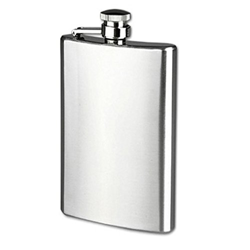 Stainless Steel 10oz Alcohol Flask - 8