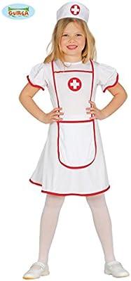 Guirca – Disfraz de enfermera de la Cruz Roja, para niñas, 7–9 ...