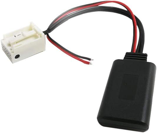 NAKELUCY Auto Bluetooth aux Kabel Adapter f/ür Peugeot 207 307 407 308 Citroen c2 c3 rd4