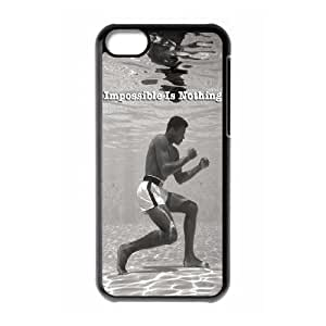 iPhone 5c Cell Phone Case Black Mohamed Ali Impossible Is Nothing Oasfe