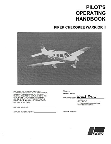 Pilot's Operating Manual Piper Cherokee Warrior II 1976 PA-28-161 (with Emergency Checklist and Specs) (Cherokee Check)