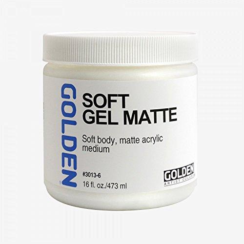 Golden Acryl Med 16 Oz Soft Gel Matte by Golden