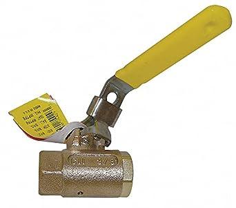 Brass FNPT x FNPT Ball Valve Locking Lever 1 Pipe Size