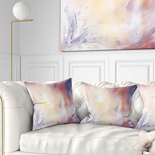 Designart CU7676-26-26 Blurry Watercolor with Star' Abstract Cushion Cover for Living Room, Sofa Throw Pillow 26 in. x 26 in. in