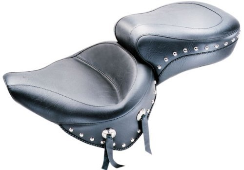 Mustang Motorcycle Seats One-Piece Wide Studded Touring Seat