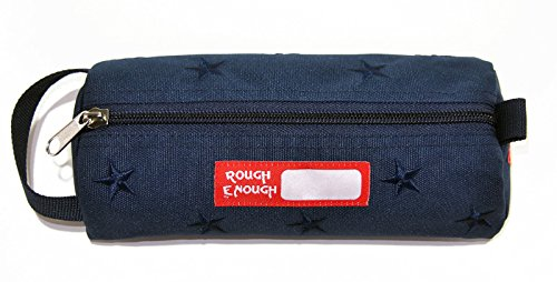 Rough Enough Star ricamo Pencil Case (Blue) by Rough Enough