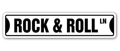 (Cortan360 ROCK & ROLL Street Sign fame music band guitar musician| Indoor/Outdoor | 8