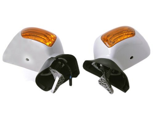 G_MTP13_08_Ho006 A Pair Left Right Motorcycle Stem Wide Rear View Mirrors Fit For Honda Goldwing GL1800 2001 2002 2003 2004 2005 2006 2007 2008 2009 2010 2011