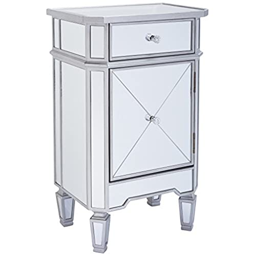 Mirrored Bedside Table Amazoncom