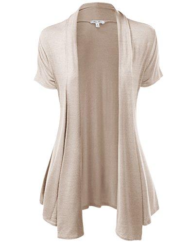 Basic Solid Lightweight Short Sleeve Open Front Cardigans