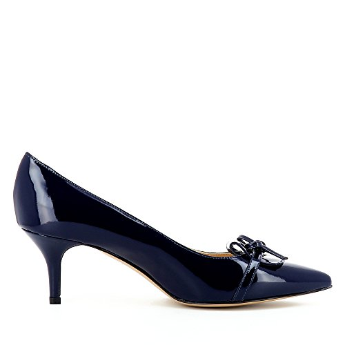 Evita Shoes Giulia Damen Pumps Lack Dunkelblau