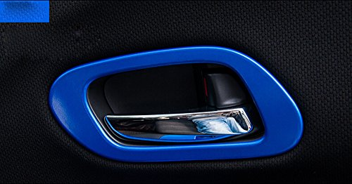 Price comparison product image Salusy ABS Chrome Interior Door Handle Cover Trim For Honda HR-V Vezel 2014 2015 2016 (Blue)