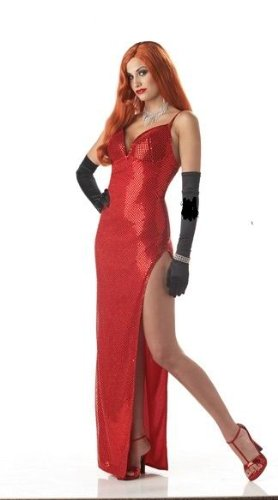 Women Adult Jessica Rabbit Dress Costume 013