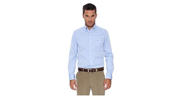 Pedro del Hierro Camisa Pinpoint Azul S: Amazon.es: Ropa y ...