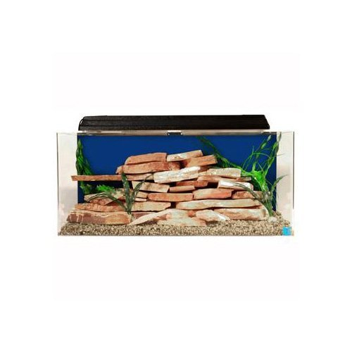 SeaClear 30 gal Show Acrylic Aquarium Combo Set, 36 by 12 by 16'', Cobalt Blue by SeaClear