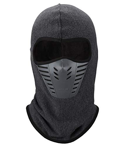 Balaclava Face Mask, Winter Fleece Windproof Ski Mask for Men and Women, Grey