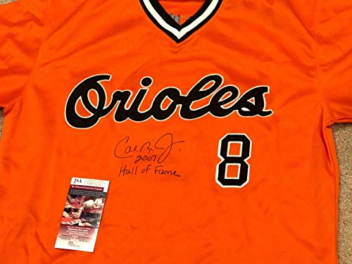- Cal Ripken Jr. Signed Jersey - 2007 HALL OF FAME + Wit COA WPP242982 - JSA Certified - Autographed MLB Jerseys