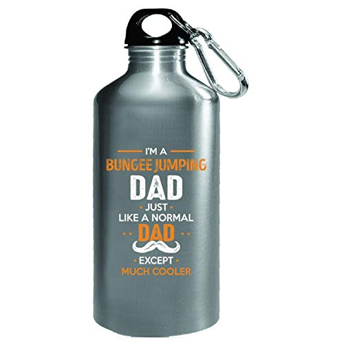 Bungee Jumping Dad Except Much Cooler Cool Gift - Water Bottle