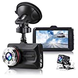 """TOGUARD Dual Dash Cam Full HD 1080P 170° Wide Angle 3.0"""" Front and Rear Car Camera Video Recorder with Night Vision WDR G-Sensor Parking Monitor Loop Recording Motion Detection"""