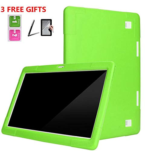 Junshion Universal Silicone Cover Case for 10 10.1 Inch Android Tablet PC+Touch Screen Pen+Film Computer Accessories Protection Silicone from Junshion_Tablet