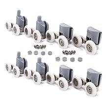 TopRay Shower Door rollers Sliding Tub Bathroom Door Replacement Rollers (Double Wheel, 25mm)