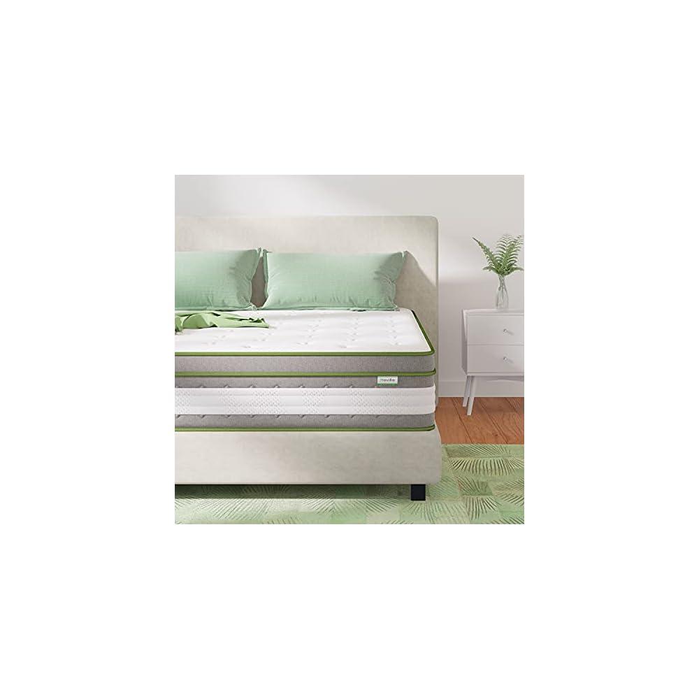 Queen Size Mattress, Novilla 12 Inch Hybrid Pillow Top Queen Mattress in a Box with Gel Memory Foam & Individually…