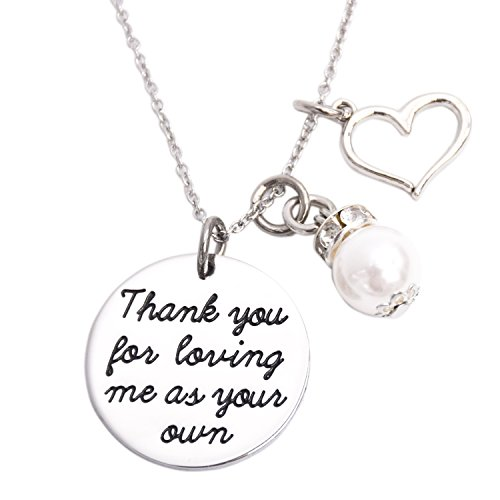 Thank You For Loving Me As Your Own Necklace Adoption Jewelry Gifts Ideas - For Thank The Gift You