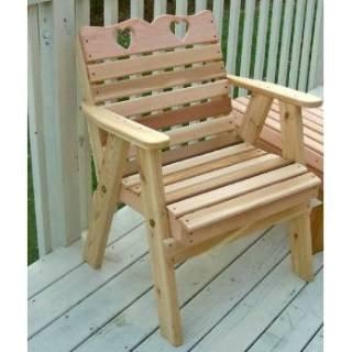 Creekvine Designs Cedar Country Hearts Patio Chair