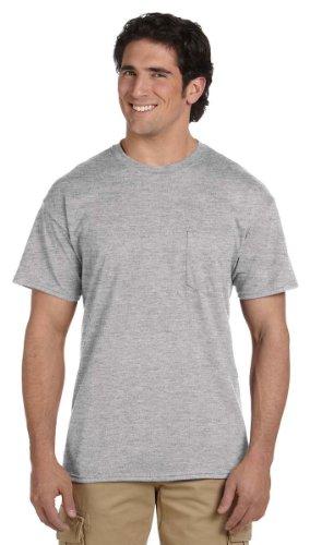 ltra Blend 50/50 Pocket T-Shirt - Sport Grey - Medium (50 Ultra Blend Pocket)