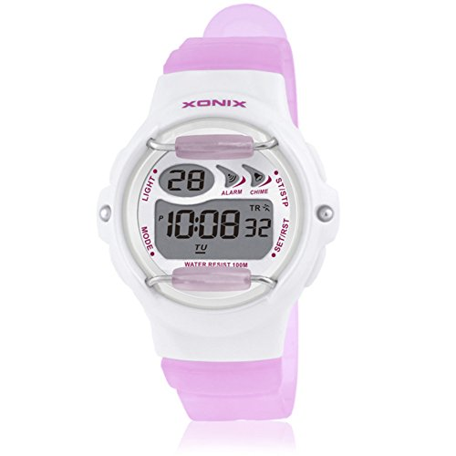 Children's multi-function jelly digital electronic watch, Led 100 m waterproof resin strap calendar alarm stopwatch girls or boys fashion wristwatch-G by CDKIHDHFSHSDH (Image #4)
