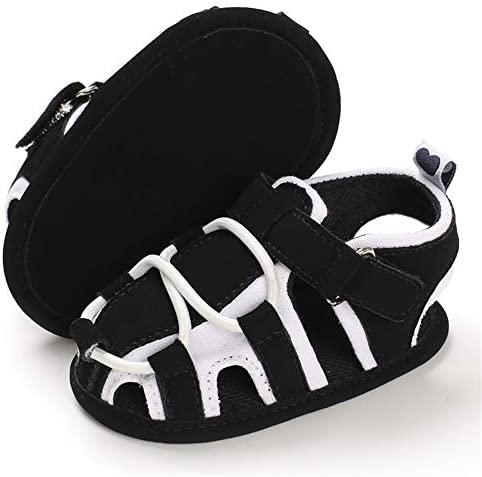 41lCvneF7DL. AC - TIMATEGO Infant Baby Boys Girls Summer Sandals Soft Sole Anti-Slip Newborn Toddler First Walkers Crib Athletic Shoes(0-18 Months)