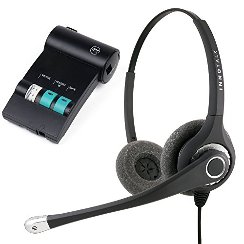 Avaya Lucent ATT Partner phone MLS-12D, MLS-34, MLS-6 Superb Sound Office Binaural Noise Cancel Headset with Headset Amplifier ()
